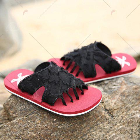 Fancy Synthetic Flip Flop Slippers - 43 RED Mobile