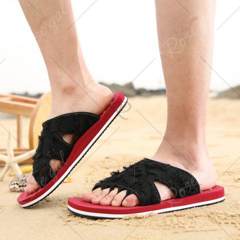 Fancy Synthetic Flip Flop Slippers - 44 RED Mobile