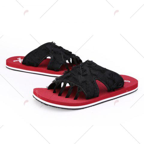 Outfits Synthetic Flip Flop Slippers - 41 RED Mobile