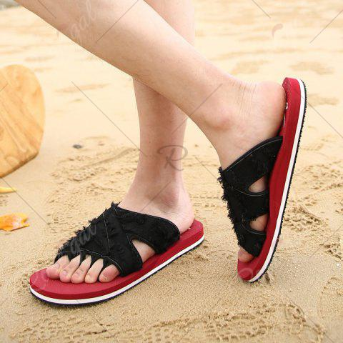Discount Synthetic Flip Flop Slippers - 42 RED Mobile