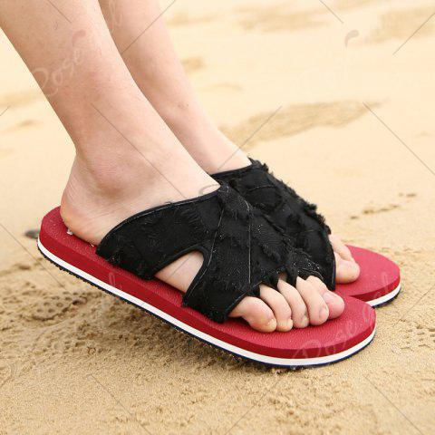 Buy Synthetic Flip Flop Slippers - 40 RED Mobile