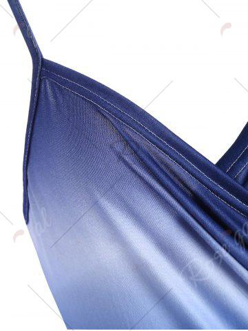 Best Ombre Wrap Cover Up Dress - ONE SIZE BLUE Mobile