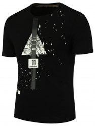 Splatter Painted Graphic T-shirt