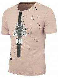 Splatter Painted Graphic T-shirt - PAPAYA 2XL