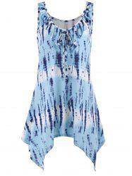 Sleeveless Tie Dye Plus Size Tunic Top