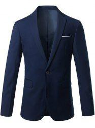 Blazer Slim Fit Lapel One Button Edging Blazer -
