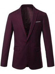 Slim Fit Lapel One Button Edging Blazer