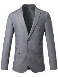 Slim Fit Lapel Blazer Casual Breasted Casual - Gris 4XL