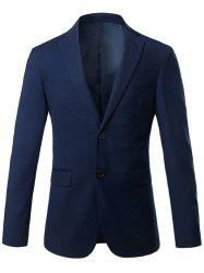 Slim Fit Lapel Blazer Casual Breasted Casual - Royal M