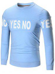YES NO Print Crew Neck Sweatshirt