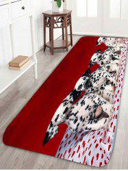 Skidproof Spotty Dogs Print Bath Rug