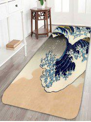 Skidproof Sea Wave Bathroom Rug
