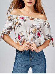 Short Off The Shoulder Floral Top