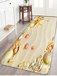 Antiskid Beach Crab Shell Starfish Bath Rug