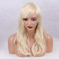 Long Inclined Bang Layered Slightly Curly Synthetic Wig