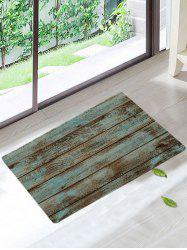 Vintage Skidproof Wood Grain Print Area Rug - GREEN
