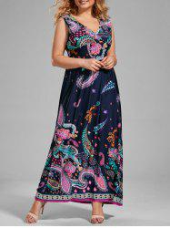 Maxi Paisley Print Dress for Plus Size