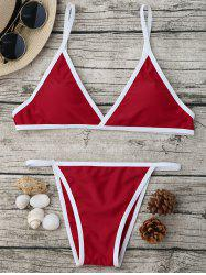 Spaghetti Strap High Cut Bikini Set