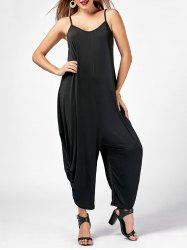 Scrunch Baggy Jumpsuit - BLACK