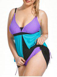 Split Front Plus Size Tankini Set