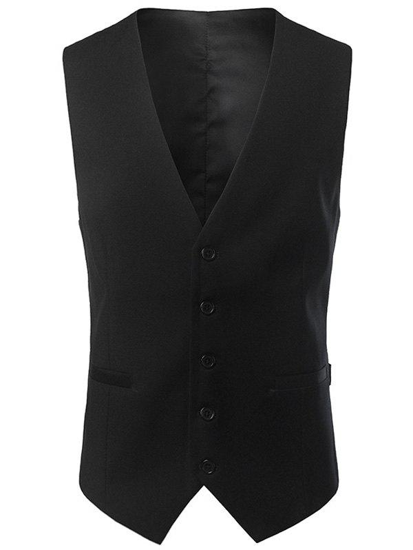 Best Single Breasted V Neck Belt Design Waistcoat