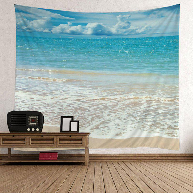 Beach Style Wave Print Wall Hanging Art TapestryHOME<br><br>Size: W59 INCH * L79 INCH; Color: LAKE BLUE; Style: Beach Style; Material: Polyester; Feature: Removable,Washable; Shape/Pattern: Print; Weight: 0.5000kg; Package Contents: 1 x Tapestry;