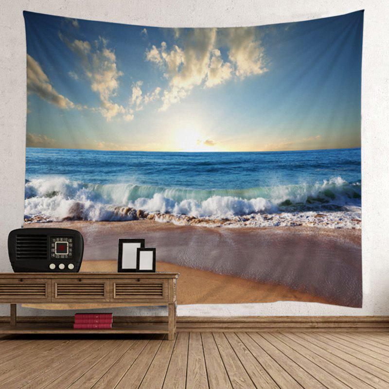 Home Decor Beach Sunlight Wall TapestryHOME<br><br>Size: W59 INCH * L79 INCH; Color: LAKE BLUE; Style: Beach Style; Material: Polyester; Feature: Removable,Washable; Shape/Pattern: Print; Weight: 0.5000kg; Package Contents: 1 x Tapestry;