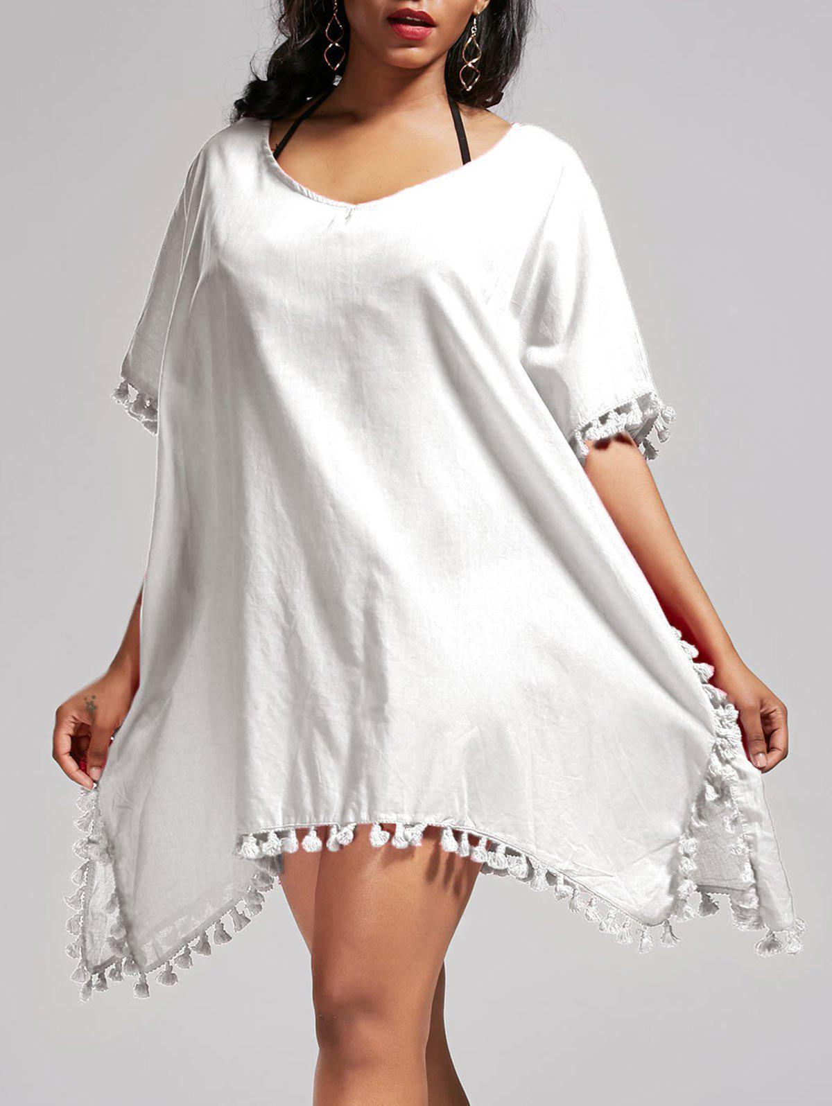 Best Oversized Batwing Sleeve Swing Tunic Cover Up Dress
