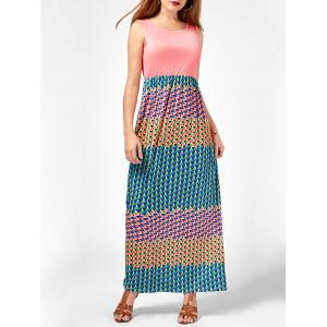 Colorful Printed Maxi Dress
