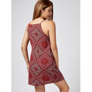 Paisley Print Mini Sundress - RED M