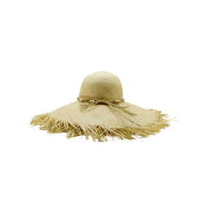 Beaded Decoration Sun Floppy Straw Hat