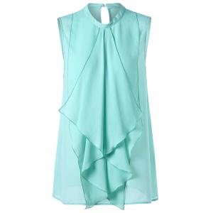 Waterfall Ruffle Plus Size Chiffon Tank Top