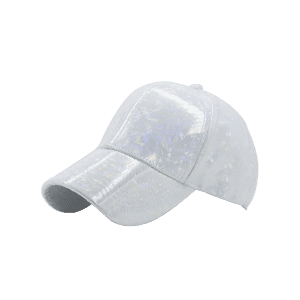 Laser Hip Hop Baseball Cap - White