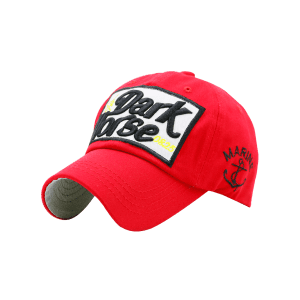 Boat Anchor Letters Printed Baseball Cap - Red
