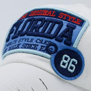 Badges Letters Patterned Baseball Cap - WHITE