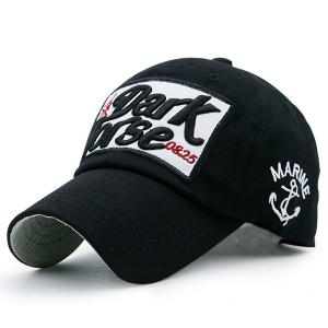 Boat Anchor Letters Patterned Baseball Cap - Black - L