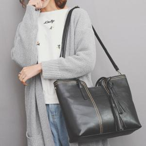 Sac à bandoulière Faux Leather Tassel -