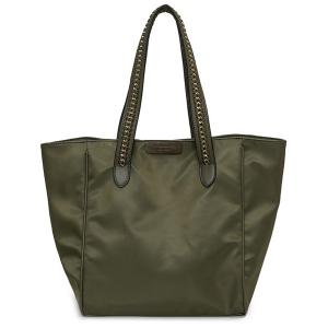 Chain Trimmed Nylon Shopper Bag