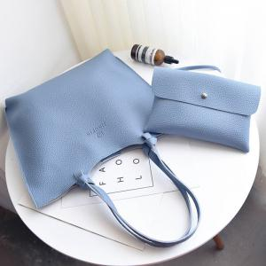 Faux Leather Shoulder Bag and Crossbody Bag -