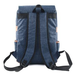 Flap Buckle Straps Canvas Backpack -