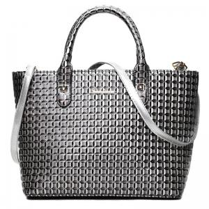 5 Pcs Geometrci Print Handbag Set - GRAY