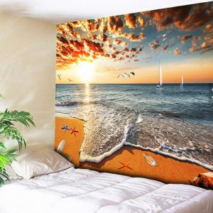 Wall Hanging Golden Beach Tapestry - Yellow - W51 Inch * L59 Inch