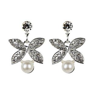 Faux Pearl Butterfly Earring and Necklace Sets -