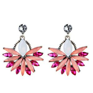 Rhinestone Floral Statement Drop Earrings