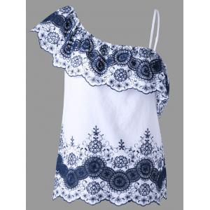 Floral Embroidered Asymmetric Top