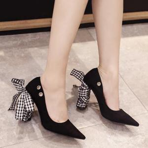 Tie Up Changeable Point Toe Pumps