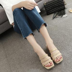 Square Toe Strappy Slide Sandals