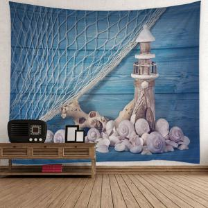 Fishing Net Conch Tower Print Home Decor Tapestry