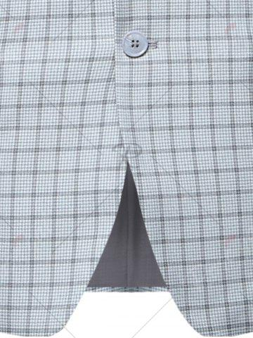 Store Lapel Check Blazer with Flap Pocket - 3XL CHECKED Mobile