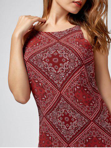 New Paisley Print Mini Sundress - S RED Mobile